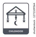 childhood icon vector on white... | Shutterstock .eps vector #1272109564