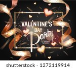 valentines day party card with... | Shutterstock .eps vector #1272119914