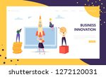 creative business innovation... | Shutterstock .eps vector #1272120031