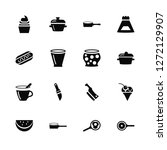 vector illustration of 16 icons.... | Shutterstock .eps vector #1272129907