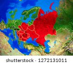 eastern europe from space on... | Shutterstock . vector #1272131011