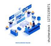 modern flat design isometric... | Shutterstock .eps vector #1272135871
