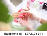 clips to wash nails. removal of ... | Shutterstock . vector #1272136144