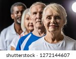 selective focus of senior woman ... | Shutterstock . vector #1272144607