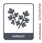parsley icon vector on white... | Shutterstock .eps vector #1272145744