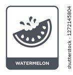 watermelon icon vector on white ... | Shutterstock .eps vector #1272145804