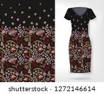 cute pattern in small simple... | Shutterstock . vector #1272146614