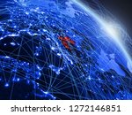 croatia from space on model of...   Shutterstock . vector #1272146851