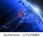 portugal from space on model of ...   Shutterstock . vector #1272146884
