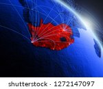 south africa from space on...   Shutterstock . vector #1272147097
