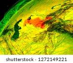 uzbekistan on model of green...   Shutterstock . vector #1272149221
