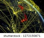vietnam from space on model of...   Shutterstock . vector #1272150871