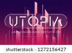 stenciled minimal san serif ... | Shutterstock .eps vector #1272156427