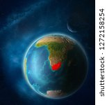 south africa from space on...   Shutterstock . vector #1272158254