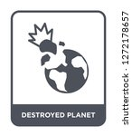 destroyed planet icon vector on ... | Shutterstock .eps vector #1272178657