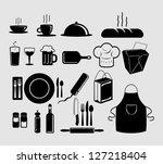 set of restaurant icons | Shutterstock .eps vector #127218404