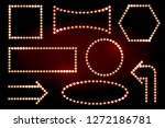 frames with light bulbs on the... | Shutterstock . vector #1272186781