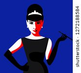 cartoon audrey hepburn. vector... | Shutterstock .eps vector #1272188584