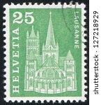 switzerland   circa 1960  stamp ... | Shutterstock . vector #127218929