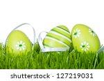 Easter Eggs Hidden In The Grass