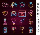 valentine day neon icons.... | Shutterstock .eps vector #1272191551