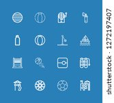 editable 16 recreational icons... | Shutterstock .eps vector #1272197407