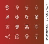 editable 16 invention icons for ... | Shutterstock .eps vector #1272197674