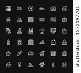 editable 36 real icons for web... | Shutterstock .eps vector #1272197701