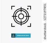 center focus vector icon | Shutterstock .eps vector #1272197851