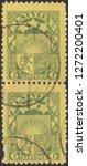 latvia circa 1925 a stamp... | Shutterstock . vector #1272200401
