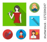 vector illustration of karaoke... | Shutterstock .eps vector #1272204247