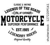 california motorcycle  legends... | Shutterstock .eps vector #1272209161
