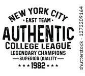 nyc authentic college league... | Shutterstock .eps vector #1272209164