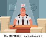 funny cartoon character.... | Shutterstock .eps vector #1272211384