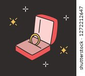 golden engagement ring in open... | Shutterstock .eps vector #1272212647