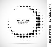 halftone circle frame abstract... | Shutterstock .eps vector #1272212674