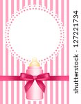 pink background with baby bottle | Shutterstock . vector #127221734