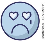 weeping  crying vector icon  | Shutterstock .eps vector #1272220744
