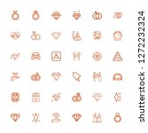 editable 36 engagement icons... | Shutterstock .eps vector #1272232324