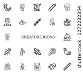 editable 22 creature icons for...   Shutterstock .eps vector #1272232354