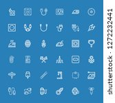 editable 36 cord icons for web... | Shutterstock .eps vector #1272232441