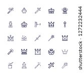 editable 25 princess icons for...   Shutterstock .eps vector #1272232444