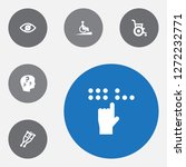 set of 6 disabled icons set.... | Shutterstock .eps vector #1272232771