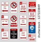 set of usa road signs | Shutterstock .eps vector #127223849