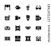 vector illustration of 16 icons.... | Shutterstock .eps vector #1272247681