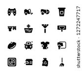 vector illustration of 16 icons....   Shutterstock .eps vector #1272247717