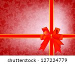 gift card and invitation with... | Shutterstock .eps vector #127224779