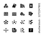 vector illustration of 16 icons....   Shutterstock .eps vector #1272247801