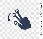 tactile command down gesture... | Shutterstock .eps vector #1272248674