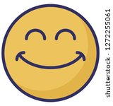 smiling  laughing vector icon  | Shutterstock .eps vector #1272255061